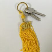 Yellow Graduation Key Chain