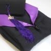 toge et coiffe premium noir et violet